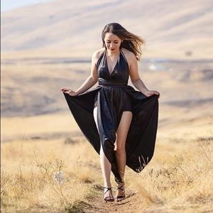 🖤 Double Slit Elegant Gown 🖤